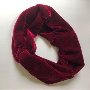 Red twisted velvet headband